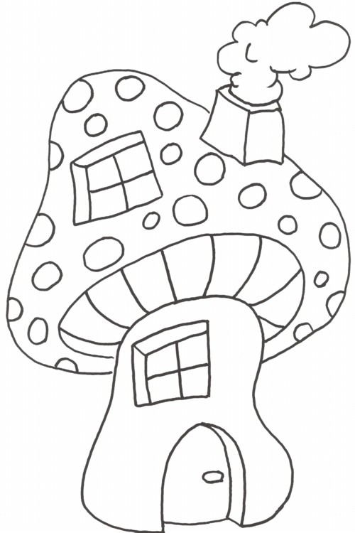 malvorlage pilzhaus  coloring and malvorlagan