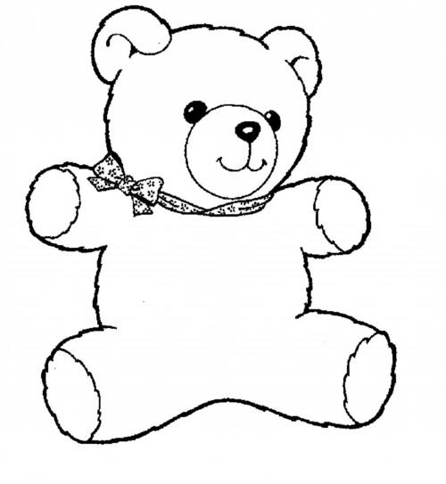 malvorlage teddy mit halstuch  coloring and malvorlagan